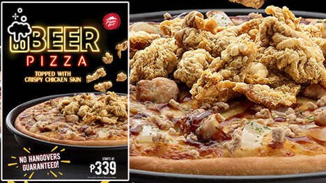Chicken-Topped Beer Pizzas