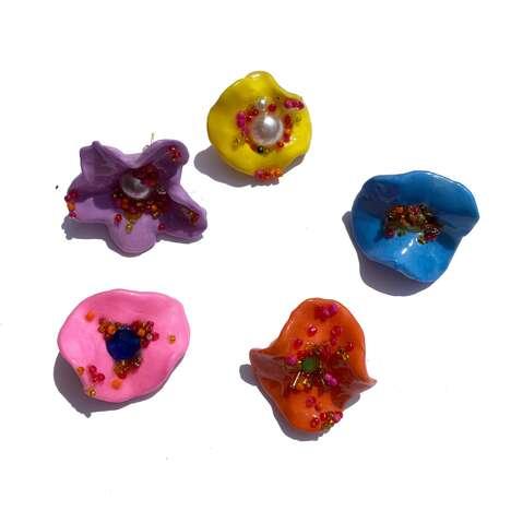 Sculptural Flower Earrings
