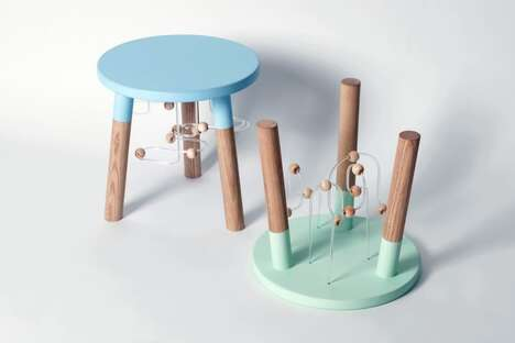 Toy Maze-Integrated Stools