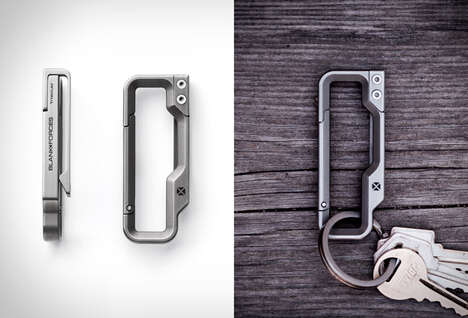 3D-Machined Keychain Carabiners