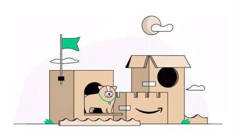 Cardboard Pet Playhouses