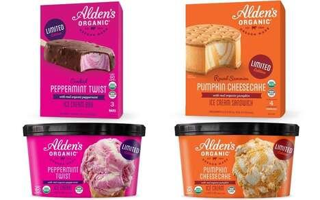 Autumnal Ice Cream Desserts