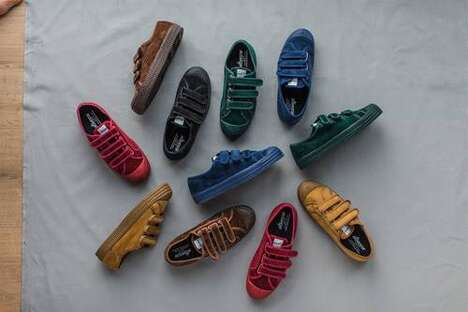 Corduroy-Adorned Casual Sneakers