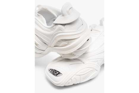 Luxe All-White Futuristic Shoes