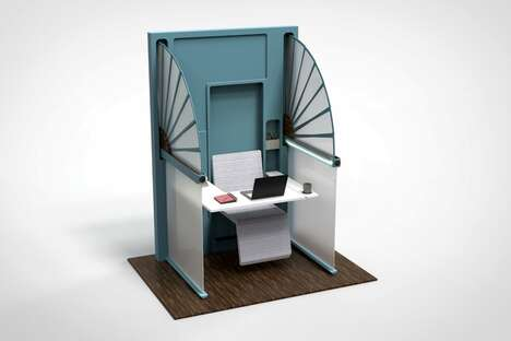 Foldable Self-Isolating Workstations