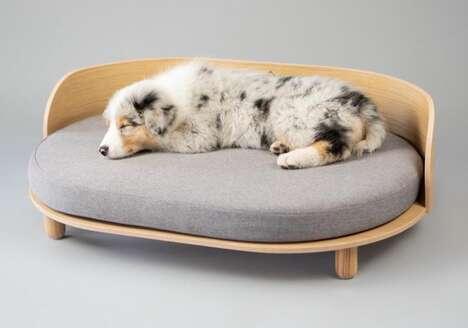 Demure Timber Dog Beds