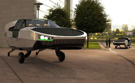 Futuristic Air Taxi Vehicles