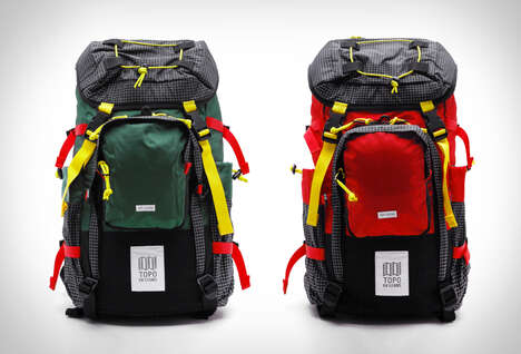 Color-Blocked Hiking Backpacks
