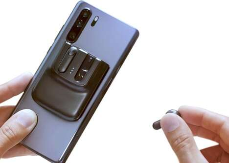 Smartphone-Mounted Earbuds