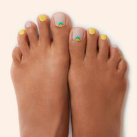 3D-Modeled Pedicure Stickers - ManiMe's PediMe Stickers Simplify At-Home Pedicures