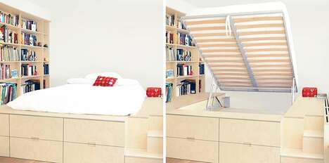 Storage-Equipped Platform Beds