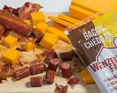 Cheesy Bacon Meat Snacks
