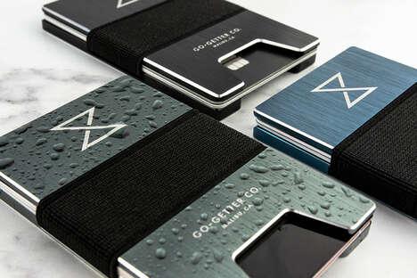Trackable Aluminum Card Wallets