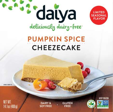 Dairy-Free Pumpkin Spice Cheesecakes