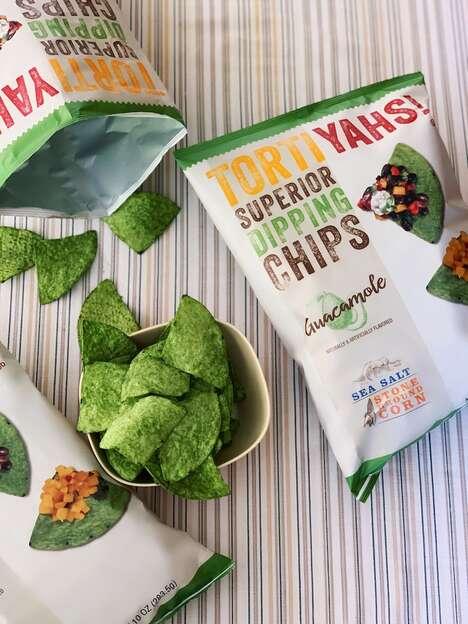 Green Guacamole Chips