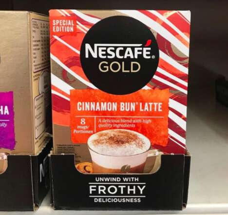 Cinnamon Bun-Inspired Instant Lattes