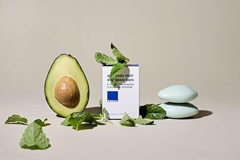 Avocado Mint Shampoo Bars