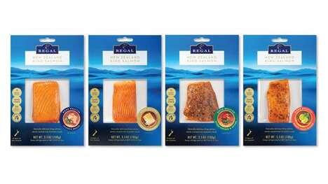Prepackaged Wood-Roasted Salmons