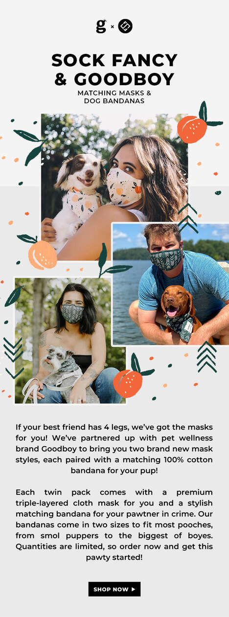 Matching Dog-and-Owner Mask Sets