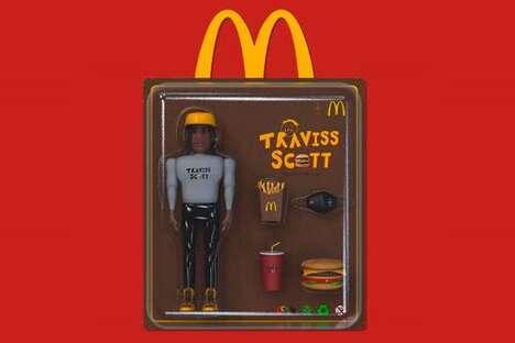 Fast Food Meal Rapper Figurines
