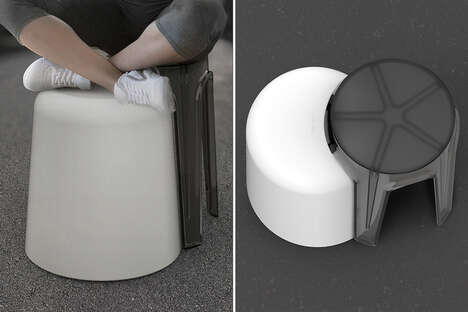 Cross-Legged Seating Stools