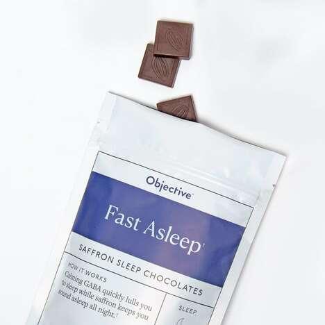 Saffron-Powered Sleep Chocolates