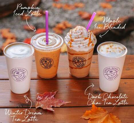 Fall-Themed Cafe Menus