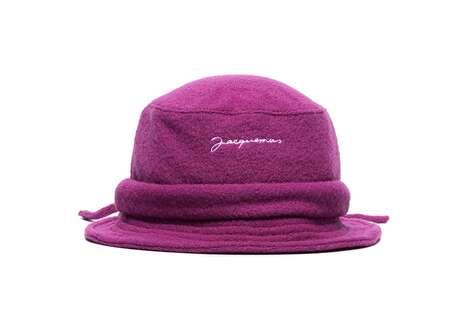 Fuchsia Wool-Constructed Hats