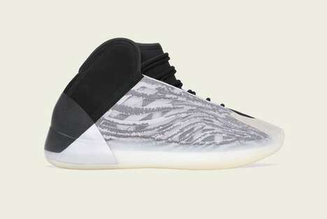 Monochrome Knit Basketball Sneaker