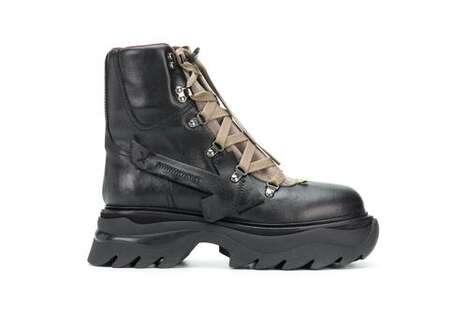 Utilitarian Rustic Combat Boots