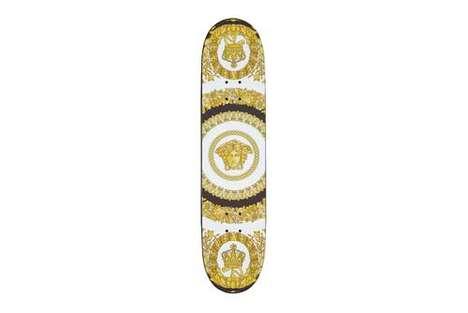 Luxe Golden Skateboard Decks