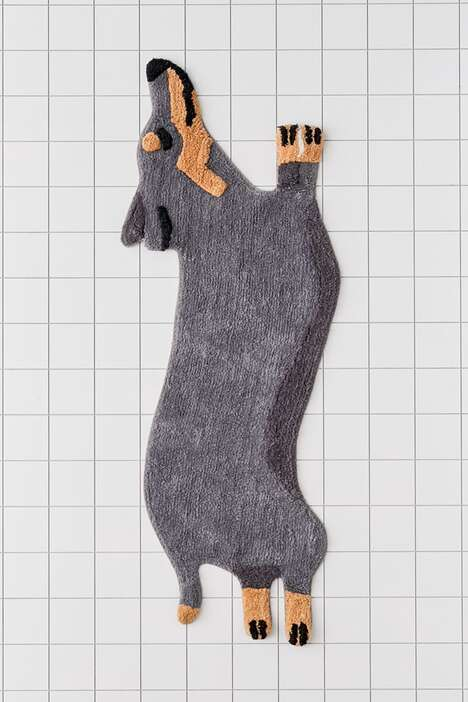 Novelty Dog-Inspired Bath Mats