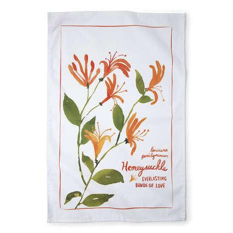 Botanical Birth Month Towels