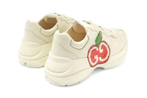 Apple-Printed Designer Sneakers
