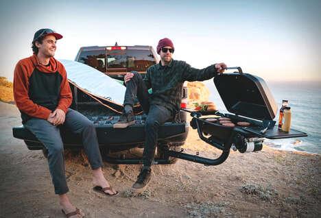 Vehicular Hitch-Mounted BBQs