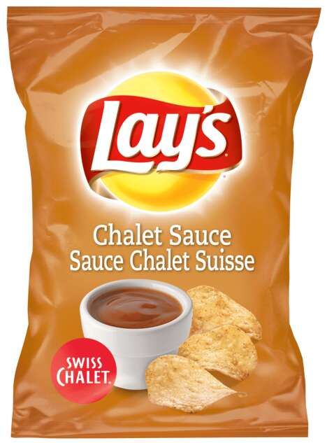 Chicken-Sauce Flavored Chips