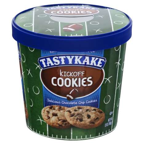 Football-Themed Cookie Tubs