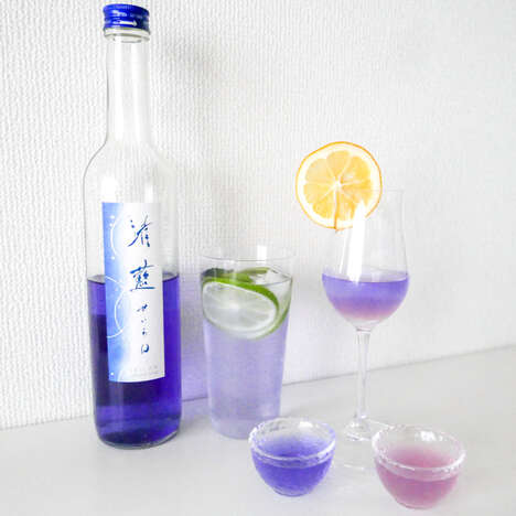 Color-Changing Cocktail Sakes