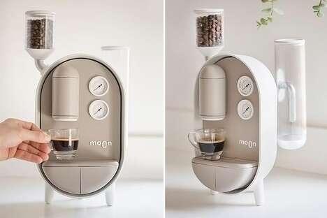 Capsule-Shaped Coffee Machines