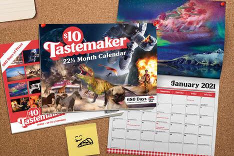 Inspiring Pizza Calendars