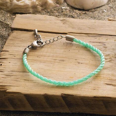 Upcycled Fishing Net Bracelets