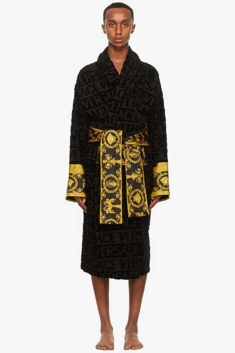 Lush Logo-Centric Regal Bathrobes