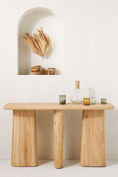 Sculptural Console Tables