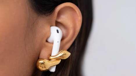 Wireless Earphone-Supporting Earrings