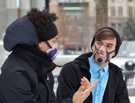 Transparent Fan-Equipped Face Masks