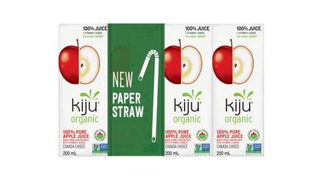 Bendable Paper Juice Box Straws