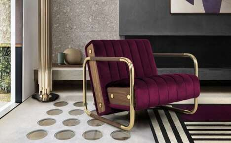 Opulent Mid-Century Modern Armchairs
