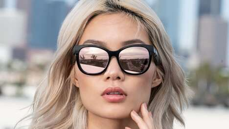 Connected Cat Eye Sunglasses