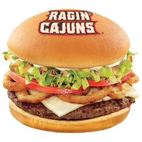 Logo-Stamped Cheeseburgers
