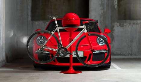 Stylishly Customized Bicycle Racks